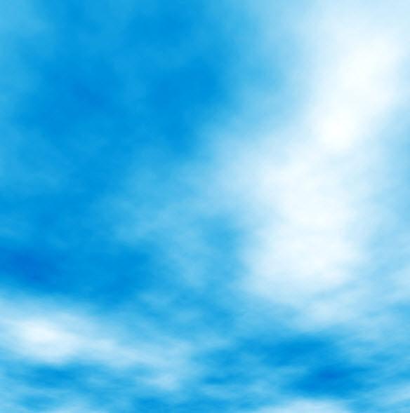 Нарисовать красивое небо в фотошопе