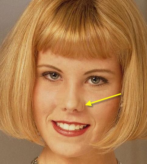 Прическа для узкого лица с длинным носом фото