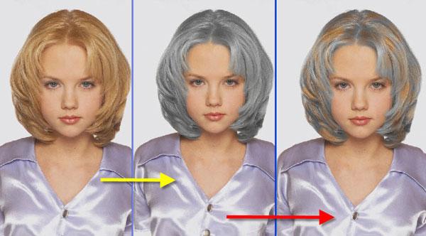 Поменять цвет волос на фото онлайн