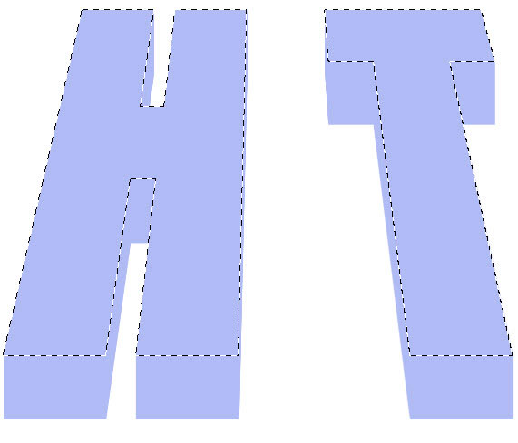 Как сделать объемные буквы.