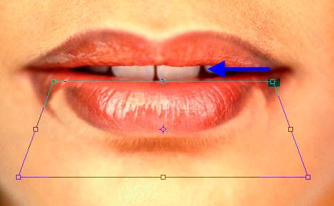 Как в фотошоп сделать губы пухлее