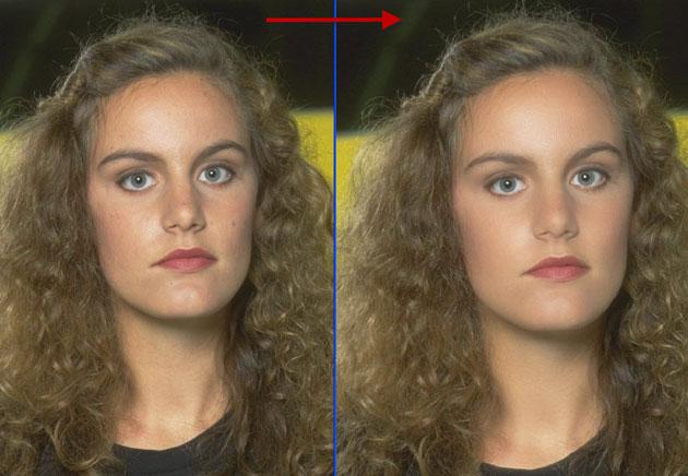 Как сделать в фотошопе волосы гладкие
