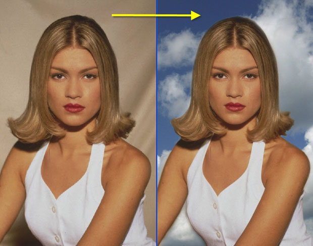изменить фон фотографии онлайн: