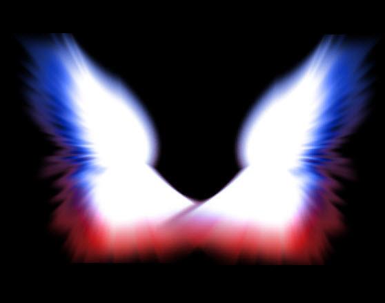 Готовые два крыла на разных слоях