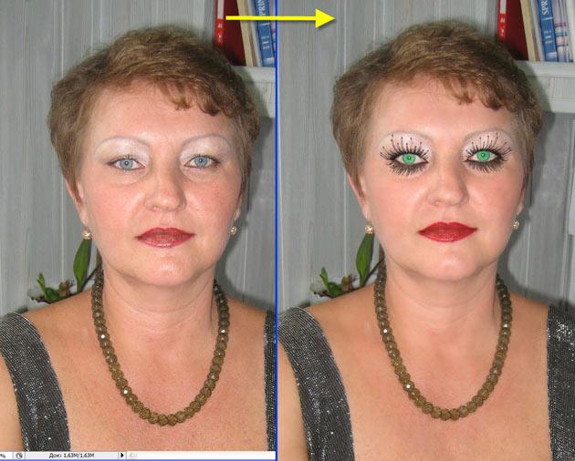 до и после макияжа фото уроки
