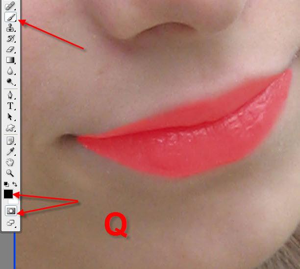 Как сделать на фотошопе губы блестящими