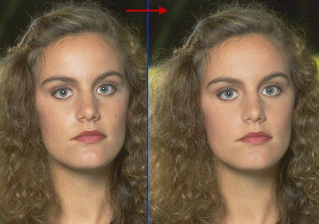 Как сделать цвет лица на фото в 322
