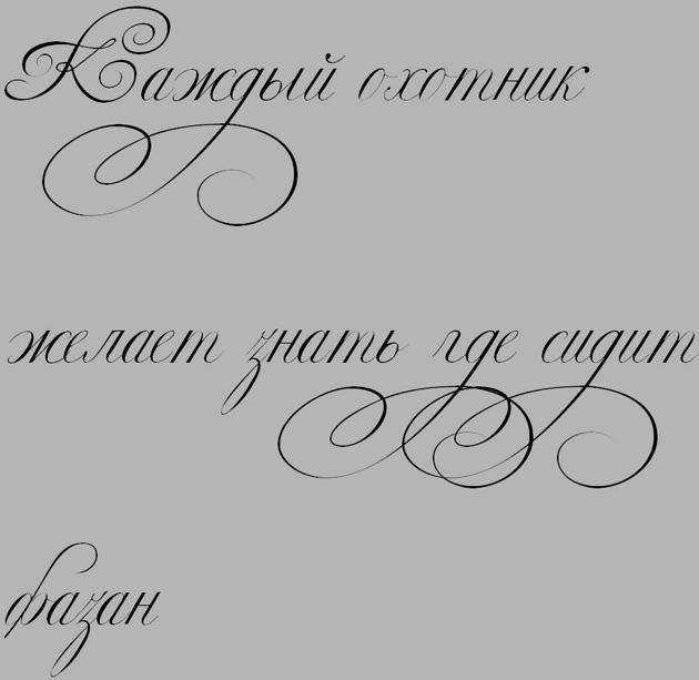 Красивый каллиграфический шрифт для