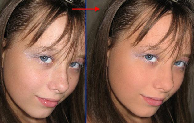 Фото девочки после обработки фотографии в фотошопе
