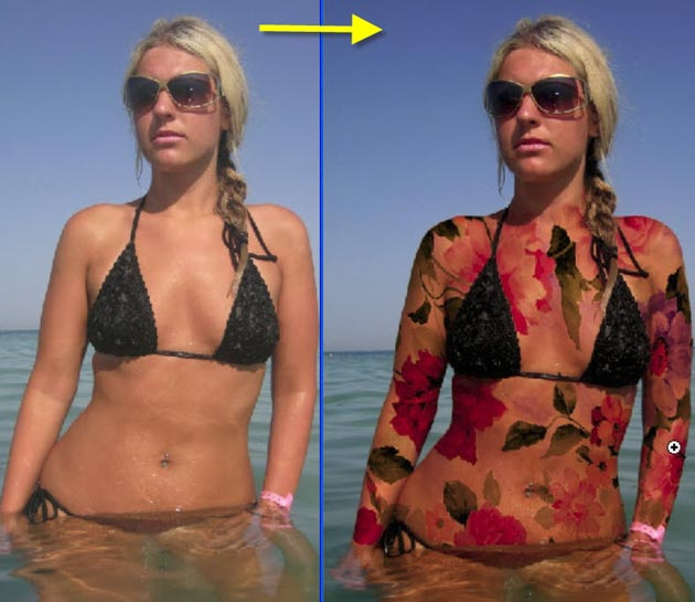 "PhotoshopSunduchok - Видеоурок по работе с фотошопом ""Бодиарт"": http://www.photoshopsunduchok.ru/vidless/955-bodiart"
