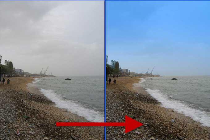 Как поменять цвет воды в фотошопе