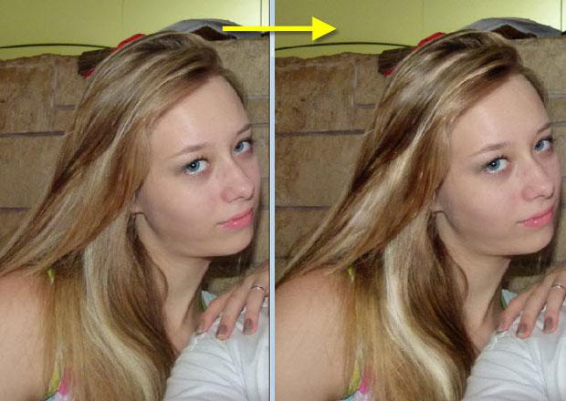 Как осветлить волосы в фотошопе
