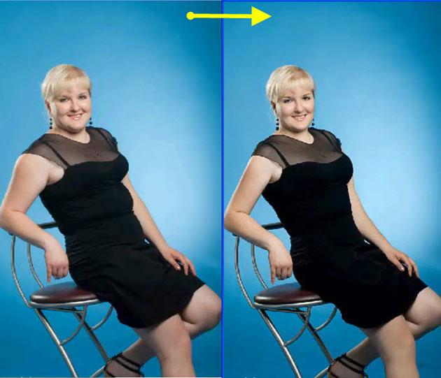 Кнопка похудение в фотошопе