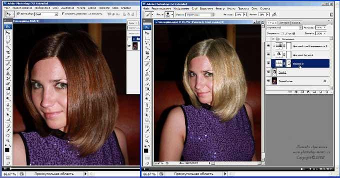 интернет-магазине редактор фото изменить цвет волос стали